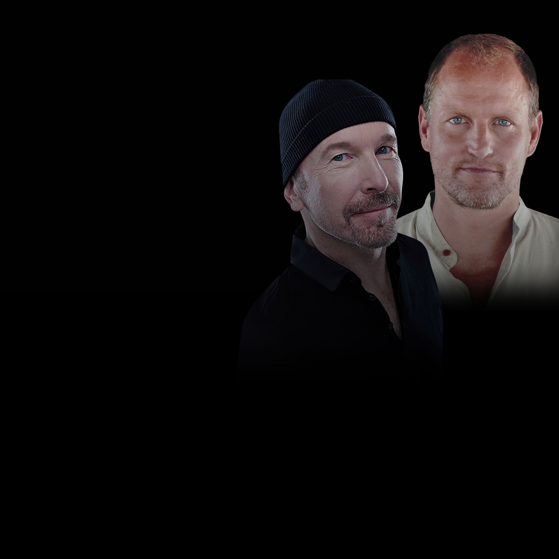 The Edge and Woody Harrelson Talk Pop